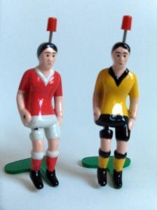 kleine voetbalpoppetjes